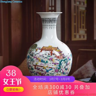 241 jingdezhen ceramics Archaize kiln open piece of blue glaze vase The classical modern furnishing articles home act the role ofing is tasted the living room