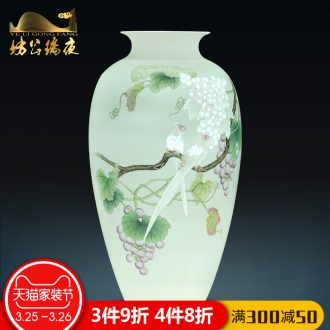 Jingdezhen ceramics hand-painted blue and white porcelain vase for years for flower arranging furnishing articles of Chinese style household act the role ofing is tasted the living room