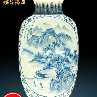 Jingdezhen ceramics hand-painted years more vases, flower arranging place to live in the sitting room porch handicraft decoration