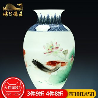 Jingdezhen ceramics furnishing articles imitation qing qianlong fuels the dragon celestial vases, sitting room of Chinese style household decorations