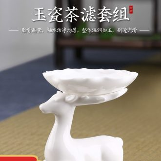 Drink to shadow celadon jingdezhen ceramic tea sets contracted household kongfu tea tureen cups gift boxes
