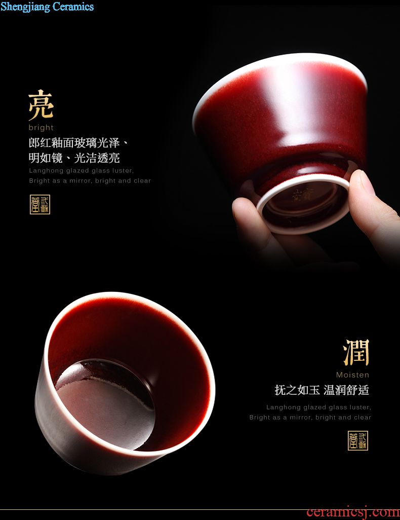 Three frequently hall of blue and white porcelain cups master cup single cup jingdezhen ceramic kung fu tea pu-erh tea sample tea cup TZS335