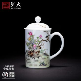 Holy big ceramic kung fu ji red colour cups heart sutra master cup all hand jingdezhen tea sample tea cup single cup