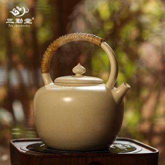 Three frequently hall tea wash bath jingdezhen ceramic household kung fu tea set parts water jar wash cup bowl S71011