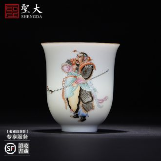 The big hand spends three to bowl of jingdezhen blue and white tureen large ceramic cups all hand tea tea bowl