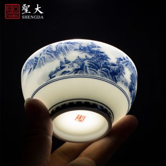 St large ceramic three tureen hand-painted porcelain cups phoenix wear pattern making tea bowl full manual of jingdezhen tea service