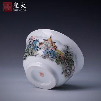 St large ceramic three tureen hand-painted porcelain bound peony medallion chrysanthemum patterns tea cups of jingdezhen tea service