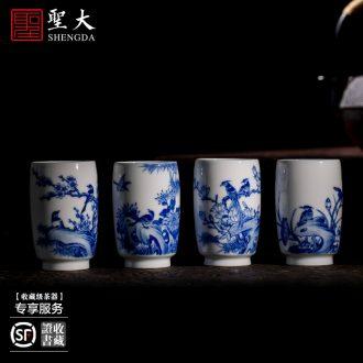The big ceramic curios Seiko archaize Sue linen from qing Ming yongle heart cup Jingdezhen porcelain tea cups