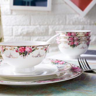 Luxury British aristocrat cutlery set Jingdezhen bone China porcelain gifts housewarming luxury wedding 66 head of relief