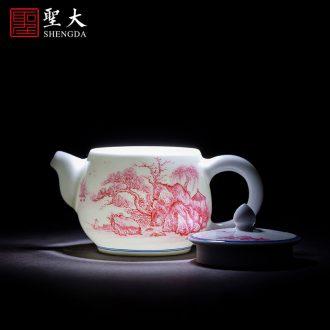 Santa jingdezhen ceramic hand-painted sweet dragon tea pot and enamel POTS kung fu tea tea accessories warehouse inventory