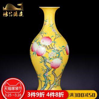 Jingdezhen ceramics furnishing articles full decoration hanging dish sat dish plate household handicraft decoration in the living room