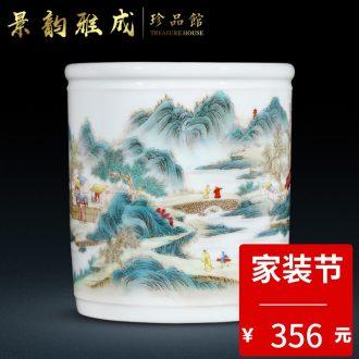 Big vase classical jingdezhen ceramics kiln sitting room ground suit China decoration vase TV ark