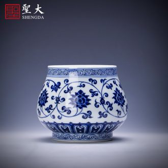 Holy big ceramic tea pot hand-painted pastel khe sanh friends send figure tank receives all hand jingdezhen tea service