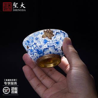 A clearance rule Ceramic large jingdezhen blue and white 24 filial piety big bowl hand-painted teacup manual green bowl