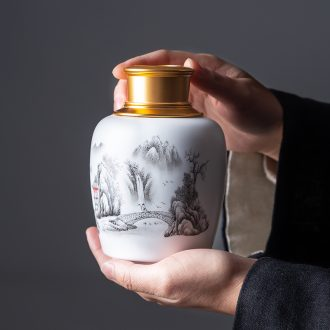 Jingdezhen wine suits ceramic celadon home court of a complete set of antique Chinese jade porcelain paint jar of wine cup