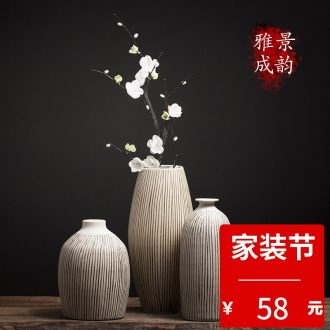 Jingdezhen ceramic new Chinese style household living room TV cabinet furnishing articles table decoration flower vase porcelain arts and crafts