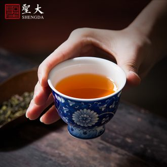 Holy big ceramic kung fu masters cup hand-painted porcelain cups do sample tea cup all hand jingdezhen tea cup