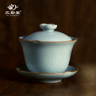 Three frequently hall jingdezhen ceramic cup with cover filter mug cups tea longquan celadon S61018 office