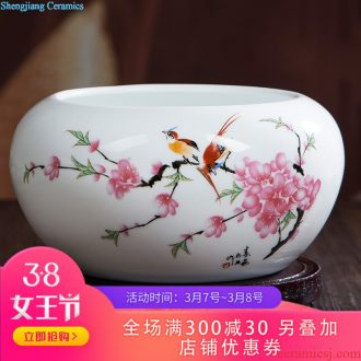 097 jingdezhen decorative vase tank rotating base circle multi-function flowerpot shelf parts carving furnishing articles
