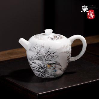 Jingdezhen ceramic color ink landscape cup sample tea cup manual kung fu noggin single cup hand-painted personal tea cups