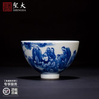 St the ceramic kung fu tea master cup hand-painted micro ShuXin by sample tea cup all hand jingdezhen tea cup