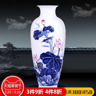 The jingdezhen ceramics hand-painted vases, flower arranging chunjiang nostalgia furnishing articles of Chinese style living room porch TV ark decoration