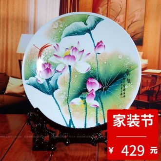 Jingdezhen blue and white ceramics apple stool cooler stool sitting room of Chinese style household furnishing articles decorations arts and crafts
