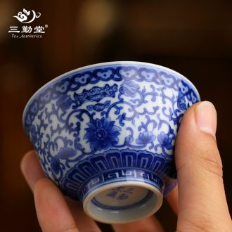 The three frequently your kiln tureen tea cups Jingdezhen ceramic S14007 kung fu tea set three to make tea cup large bowl