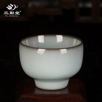 3 attendance hall kiln dry plate of small tea table of jingdezhen ceramic pot pot sheng falbala tea accessories S72037