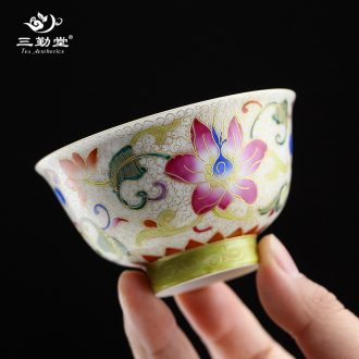 The three frequently small tea cups Jingdezhen ceramic kung fu tea set sample tea cup cup S41020 mini white porcelain cup individuals
