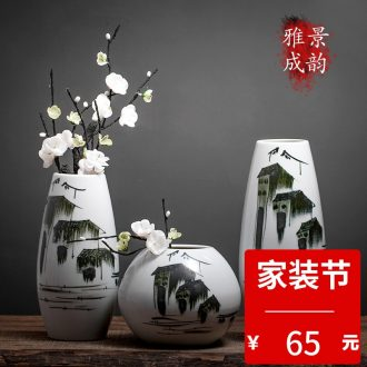 Jingdezhen ceramic creative new Chinese style table vase household flower arranging flowers sitting room adornment porcelain furnishing articles