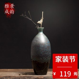 New Chinese style living room porch flower vase porcelain of jingdezhen ceramics home TV ark adornment furnishing articles