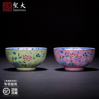 St big ceramic kung fu tea masters cup hand-painted micro book world the elephant sample tea cup jingdezhen tea cup