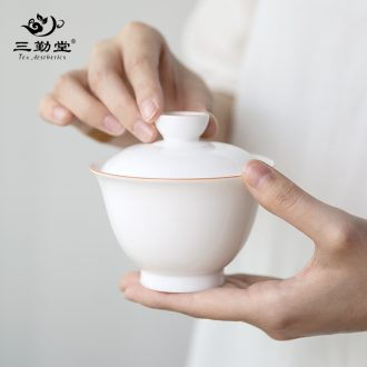 Your kiln hand grasp three frequently hall pot of tea set jingdezhen ceramic kung fu tea set of portable travel ST2016