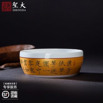 Jingdezhen ceramic famille rose only three tureen teacups hand-painted flowers kwai mouth bowl high-grade all hand kung fu tea set
