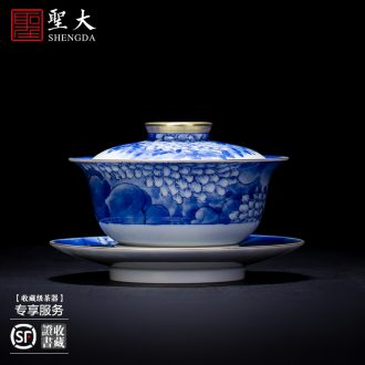 Holy big ceramic kung fu masters cup antique hand-painted porcelain cups sample tea cup all hand jingdezhen tea cup