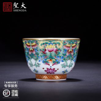 St the ceramic hand-painted master cup colored enamel seawater hill grain kung fu jingdezhen fine handmade tea cups
