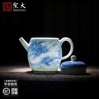 St large ceramic three tureen kung fu hand-painted porcelain cups landscape famille rose bowl is the ancient philosophers diagram of jingdezhen tea service