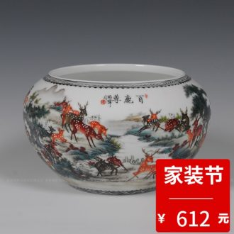 Jingdezhen ceramic vases, small and pure and fresh decoration lucky bamboo vases, flower arranging furnishing articles contemporary and contracted sitting room living room