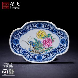 Kung fu tea ceramic sample tea cup hand-painted master cup all hand perfectly playable cup of blue and white porcelain jingdezhen tea cup