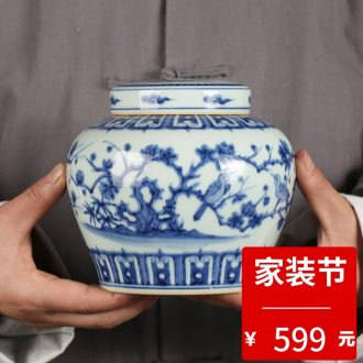 Jingdezhen porcelain brush pot restoring ancient ways is teachers' day gift pen container to send the teacher a housewarming gift opened the gift shop