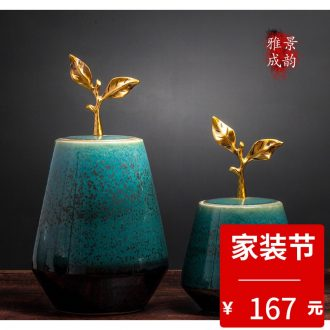 Jingdezhen blue and white landscape ceramic vase furnishing articles household act the role ofing is tasted the sitting room porch TV ark adornment porcelain