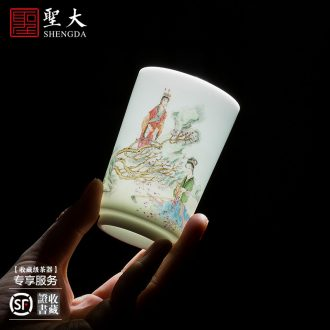 St new big ceramic fair mug hand-painted color mountain water device and a cup of tea all hand jingdezhen tea accessories tea sea
