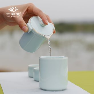 The three frequently your kiln stone gourd ladle pot of jingdezhen kung fu tea set single pot of catch a pot of little teapot ceramic S24001 side handle
