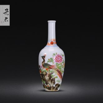 Jingdezhen painting colored enamel vase furnishing articles sitting room illustration archaize ceramic furnishing articles furnishing articles porcelain vase