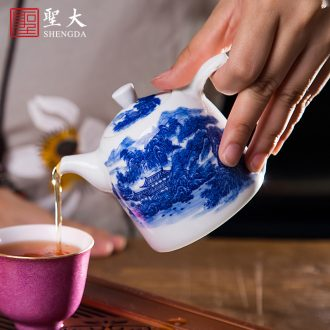 Jingdezhen ceramic hand-painted famille rose sample tea cup tea all hand alum red paint longfeng pattern master kung fu tea cups