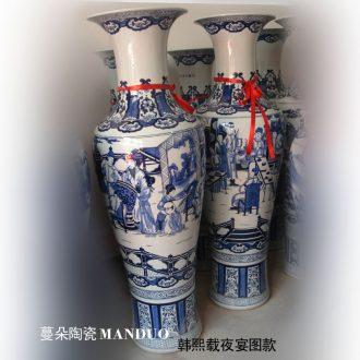Tendril jingdezhen ceramic hand-painted flowers powder enamel vase elegant vase affordable gift porcelain furnishing articles in the living room