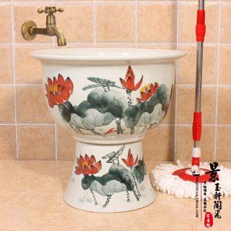 JingYuXuan jingdezhen ceramic art basin stage basin sinks the sink basin archaize luxury goldfish