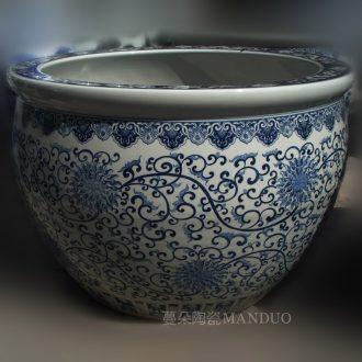Jingdezhen blue and white youligong imitation qianlong hand-painted dragon vase the celestial sphere red dragon tattoo art vase make sea, Kowloon