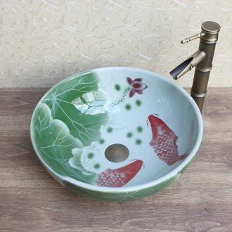 JingYuXuan ceramic art basin Shengshi blue and white Ceramic sanitary ware basin sinks hand basin